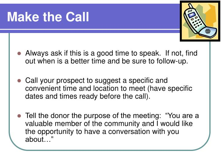 Make the Call