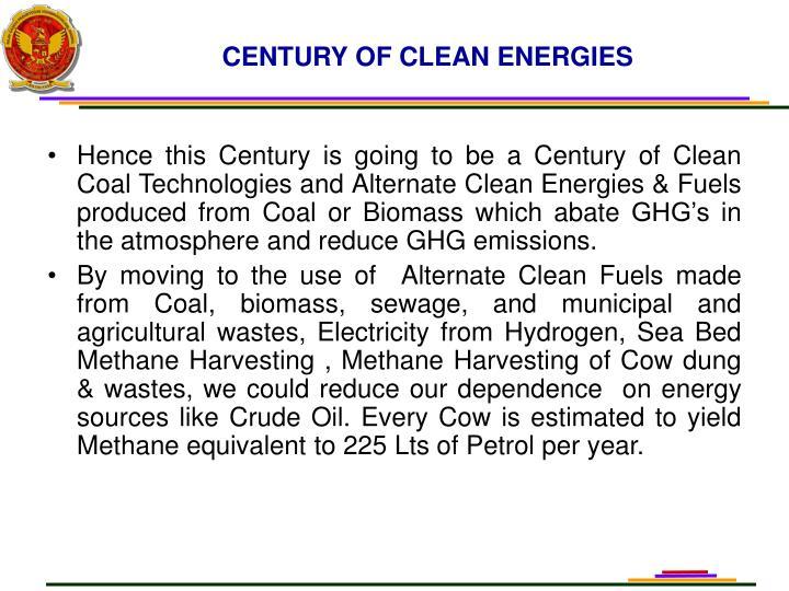 CENTURY OF CLEAN ENERGIES