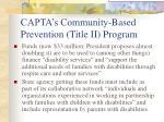 capta s community based prevention title ii program