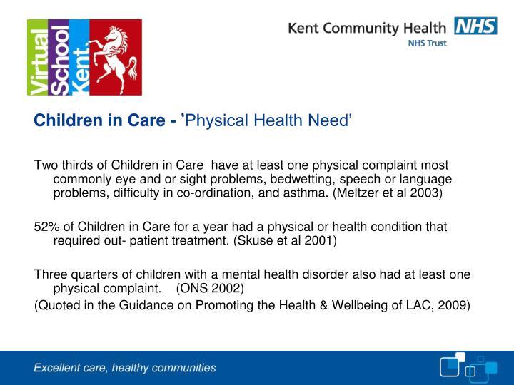 Children in Care -