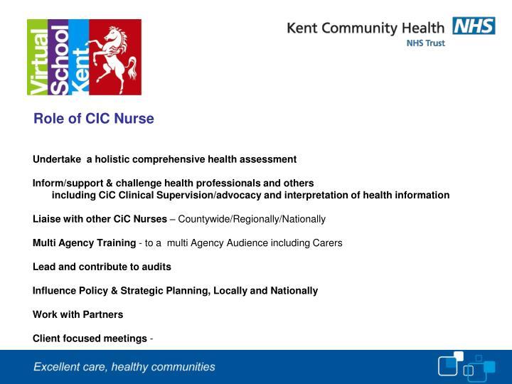 Role of CIC Nurse