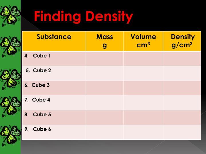 Finding Density