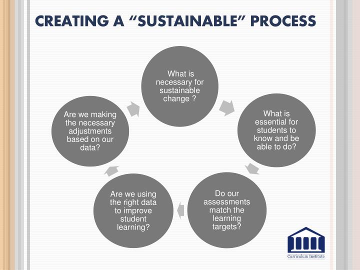 """Creating a """"Sustainable"""" Process"""