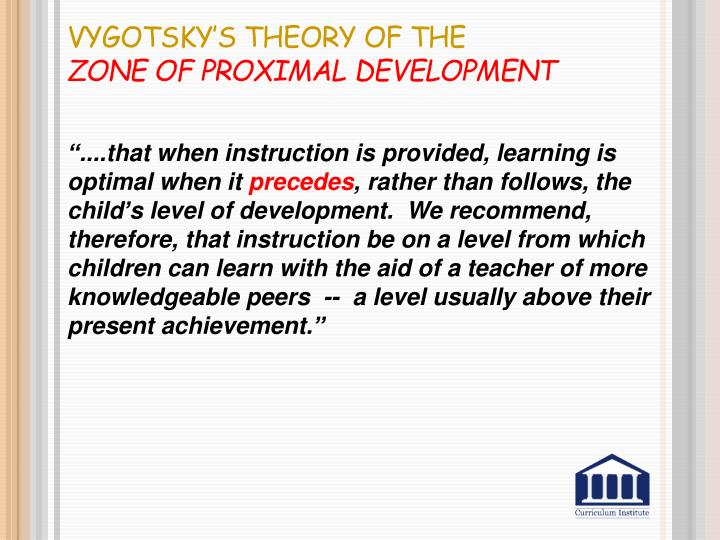 Vygotsky's Theory of the