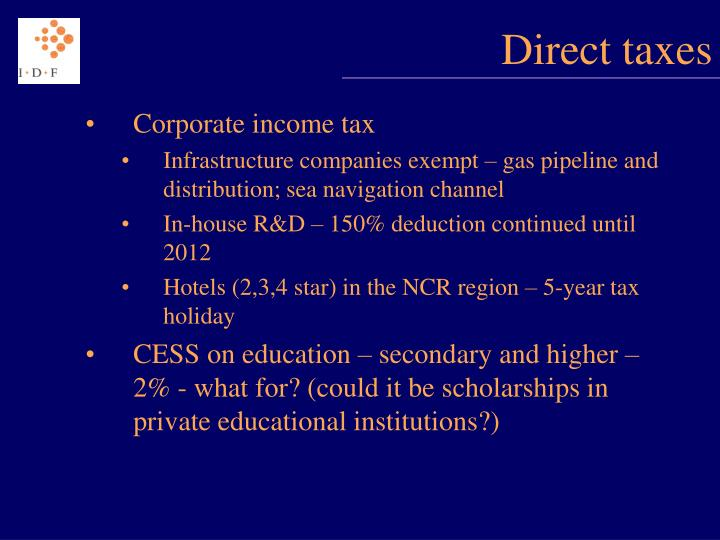 Direct taxes