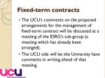 fixed term contracts