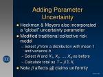 adding parameter uncertainty1