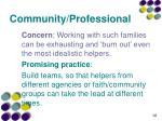 community professional3