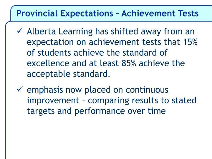 Provincial Expectations – Achievement Tests