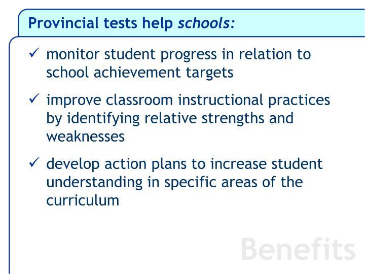 Provincial tests help schools