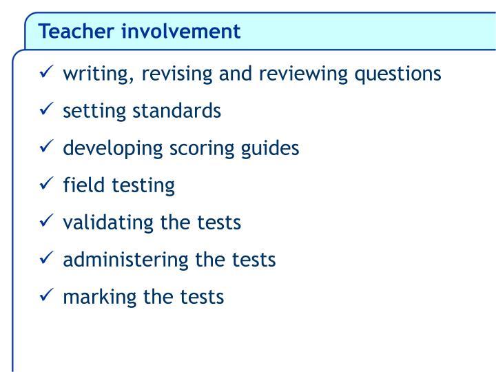 Teacher involvement