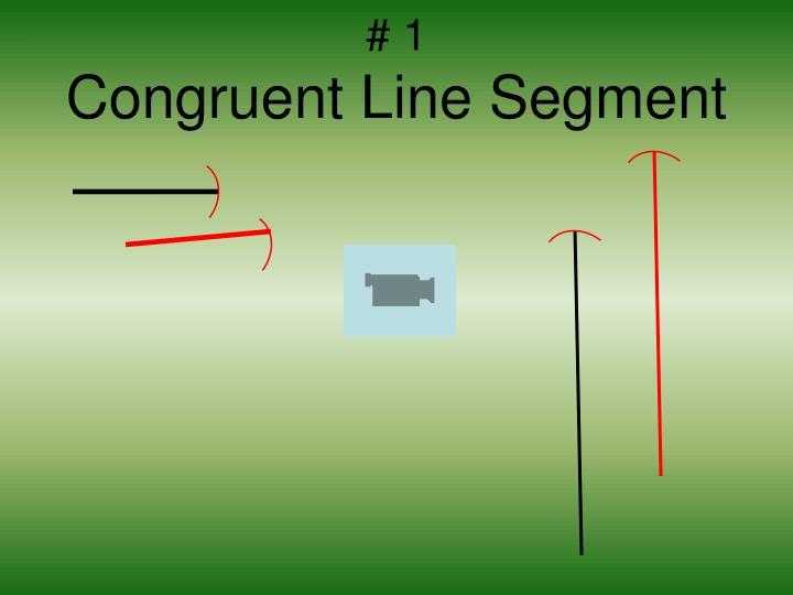 1 congruent line segment