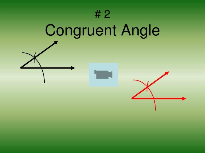2 congruent angle