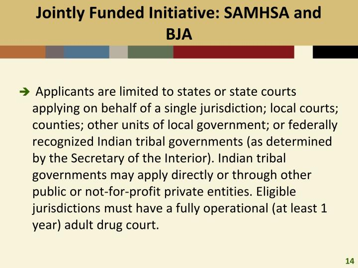Jointly Funded Initiative: