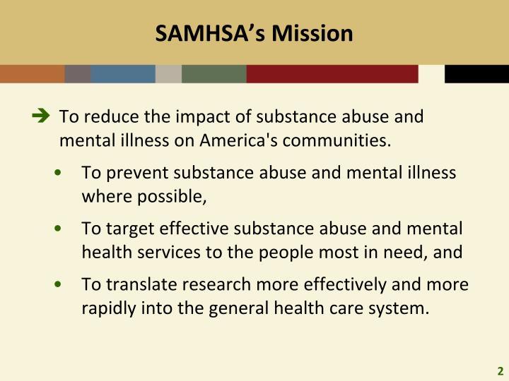 Samhsa s mission