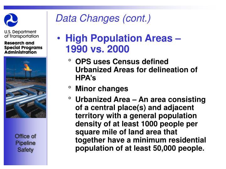 Data Changes (cont.)