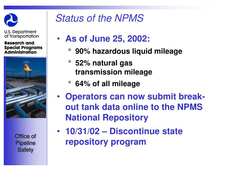 Status of the npms