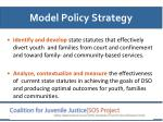 model policy strategy