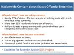 nationwide concern about status offender detention