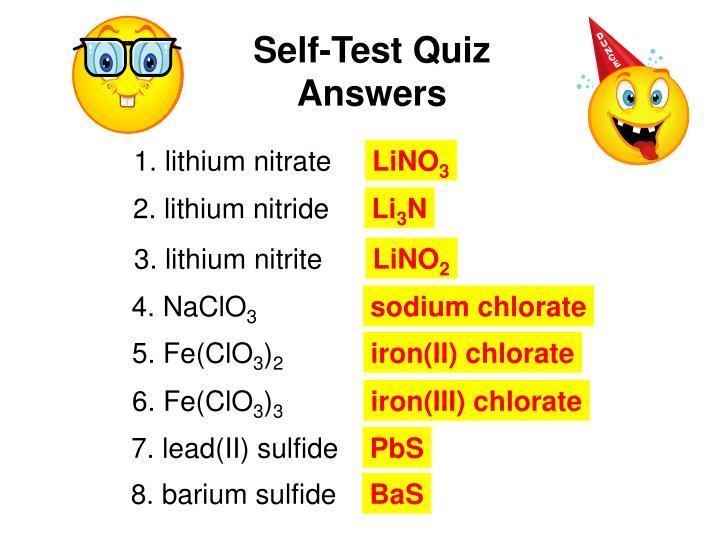 Self-Test Quiz