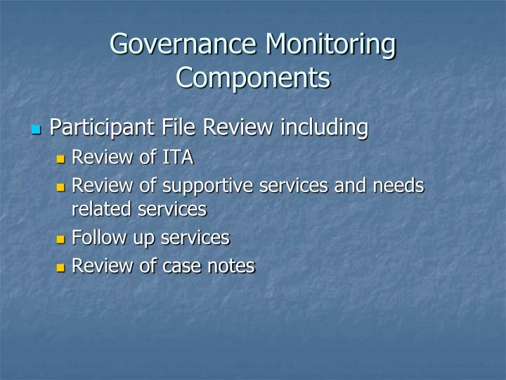 Governance Monitoring Components