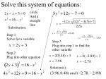 solve this system of equations4