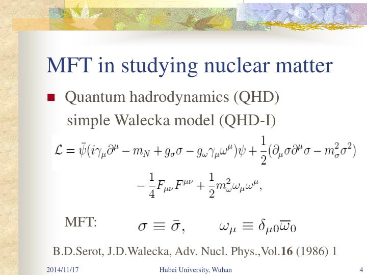 MFT in studying nuclear matter