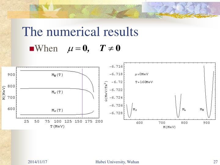 The numerical results