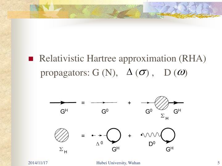Relativistic Hartree approximation (RHA)