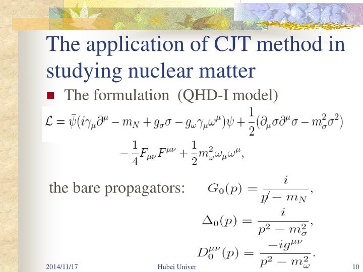 The application of CJT method in studying nuclear matter