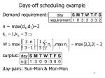 days off scheduling example