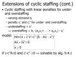 extensions of cyclic staffing cont