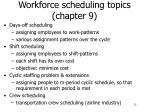 workforce scheduling topics chapter 9