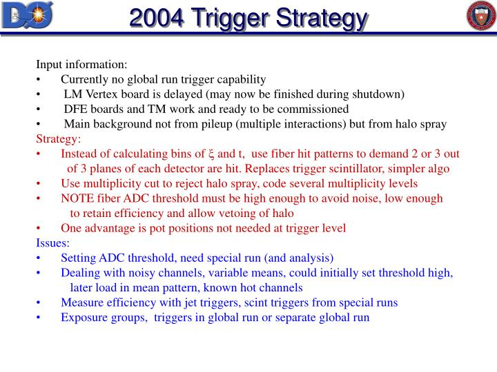 2004 Trigger Strategy