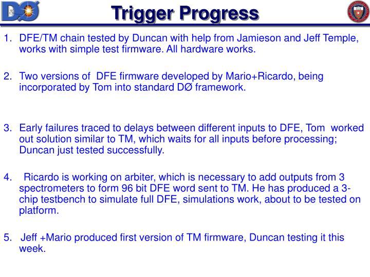 Trigger Progress