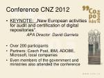 conference cnz 20121