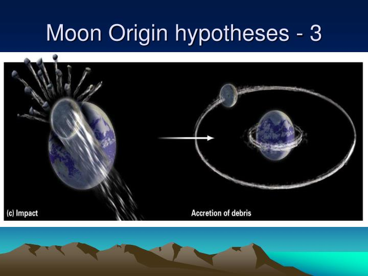 Moon Origin hypotheses - 3