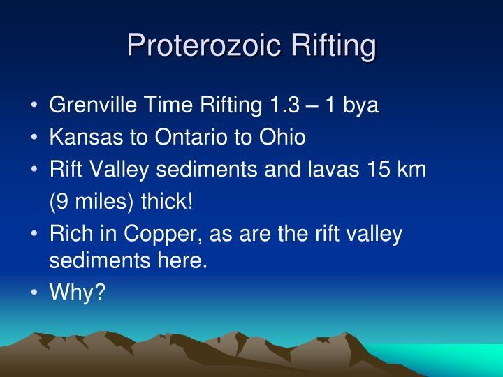 Proterozoic Rifting