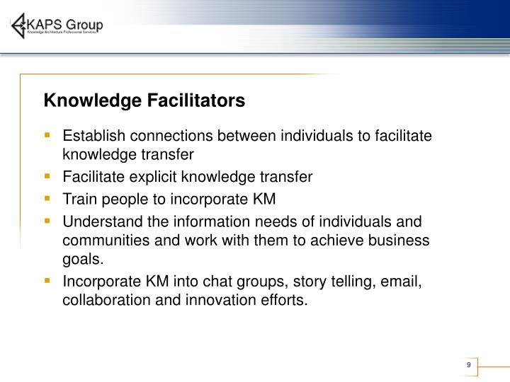 Knowledge Facilitators