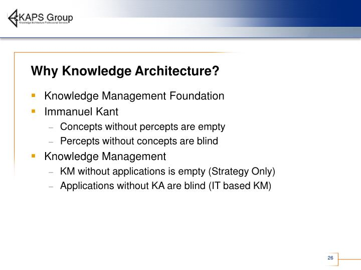 Why Knowledge Architecture?