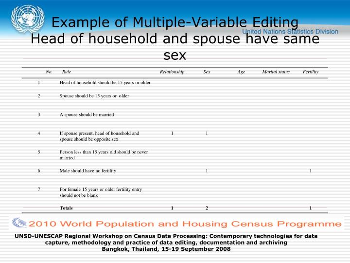 Example of Multiple-Variable Editing