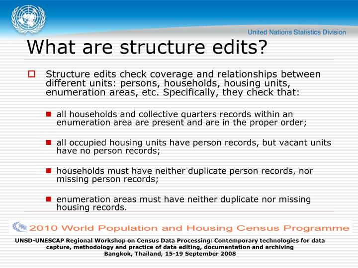What are structure edits?