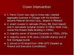 crown intervention