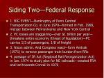 siding two federal response