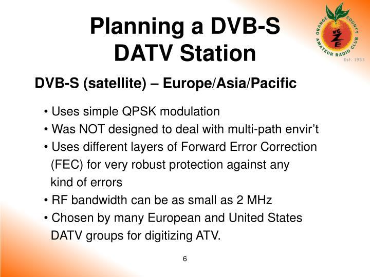 Planning a DVB-S
