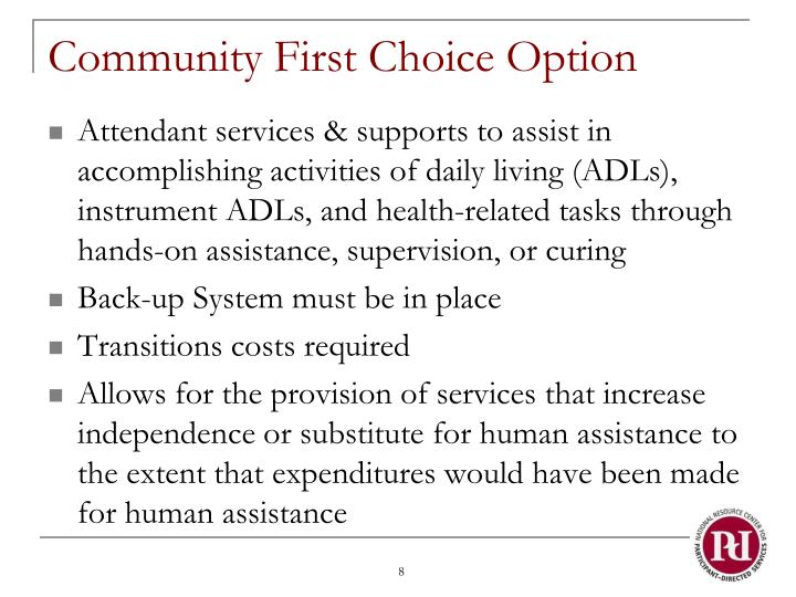 Community First Choice Option