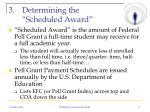 determining the scheduled award
