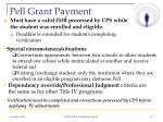 pell grant payment