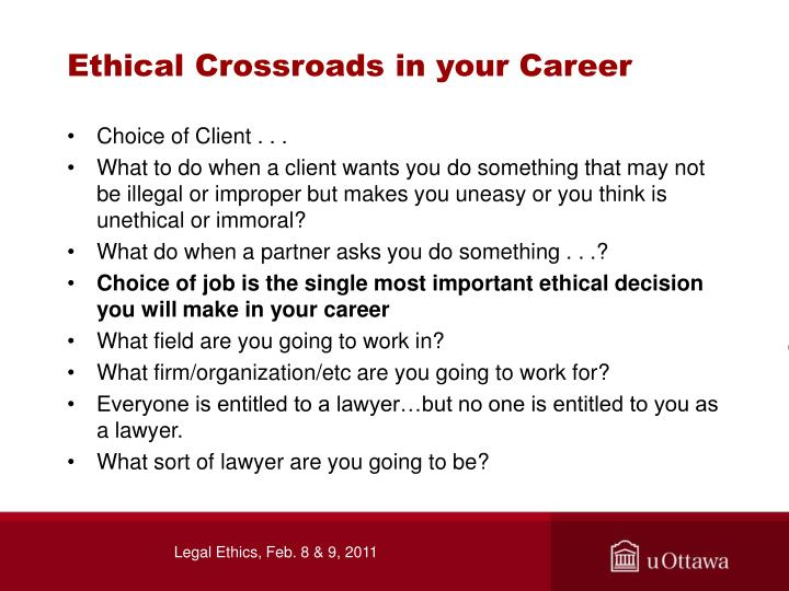 Ethical Crossroads in your Career