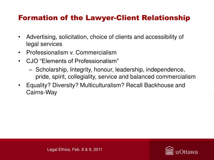Formation of the Lawyer-Client Relationship